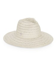 Vince Camuto Lurex Woven Hat Ivory