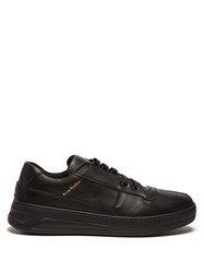 Acne Studios Perey Low Top Leather Trainers Black