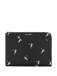 Alexander Mcqueen Dancing Skeleton Document Holder Black
