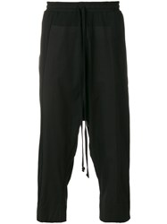 Lost And Found Rooms Cropped Over Pants Cotton Black