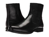 Florsheim Midtown Plain Toe Zip Boot Black Smooth Men's Dress Zip Boots