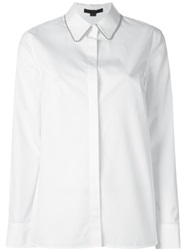 Alexander Wang Beaded Trim Collar Shirt White