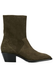 Dorateymur Square Toe Ankle Boots Brown