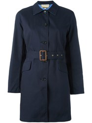 Michael Michael Kors Belted Trench Coat Blue