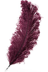 Christopher Kane Feather Brooch Grape