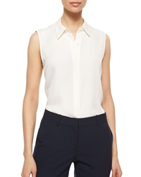 Theory Tanelis Sleeveless Silk Blouse