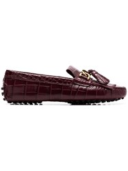 Tod's Taseel Embellished Loafers Pink And Purple