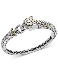 Effy Two Tone Dragon Bangle Bracelet In Sterling Silver And 18K Gold
