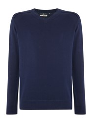 Duck And Cover Ripon 2 V Neck Knitwear French Navy
