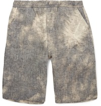Our Legacy Tie Dyed Linen Shorts Gray
