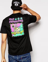 The Hundreds T Shirt With Dog Back Print Black