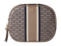 Tory Burch Gemini Link Cosmetic Case French Gray Gemini Link Stripe Cosmetic Case