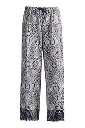 Great Plains Diamond Daze Drawcord Waist Trousers Blue