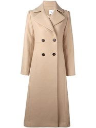 Vilshenko Double Breasted Coat Nude And Neutrals