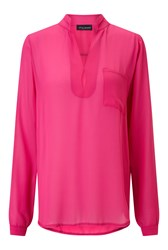 James Lakeland Long Sleeve Pockets Blouse Pink