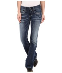 Ariat R.E.A.L. Boot Cut Entwined Jeans In Marine Marine Women's Jeans Blue