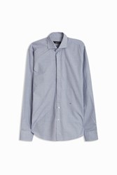 Osvaldo Trucchi Embossed Dot Shirt Blue