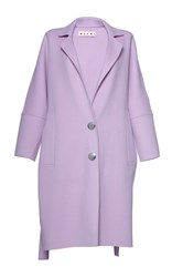 Marni Long Sleeve Pant Coat Purple