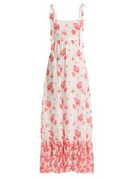 Athena Procopiou Sundown Breeze Silk Maxi Dress White Multi