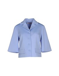 Traffic People Suits And Jackets Blazers Women Sky Blue