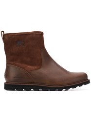 Sorel Ridged Sole Ankle Boots Brown
