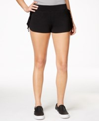 Material Girl Active Juniors' Fringe Shorts Only At Macy's Black