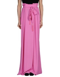 Class Roberto Cavalli Long Skirts Light Purple