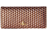 Vivienne Westwood Braccialini Honey Comb Long Wallet With Chain Viola Wallet Handbags Purple