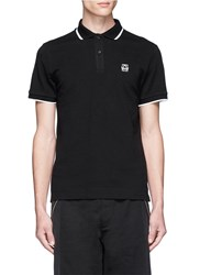 Mcq By Alexander Mcqueen Rubber Logo Patch Polo Shirt Black