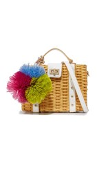 Milly Wicker Small Satchel Natural
