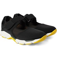 Marni Cutout Mesh Trimmed Neoprene Sneakers Black