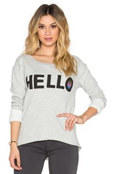 Junk Food Hello Sweatshirt Gray