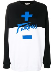 Fiorucci Colour Block Sweatshirt Cotton Black