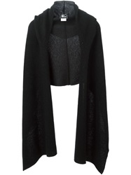 Lost And Found Hooded Wrap Scarf Black
