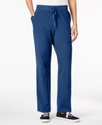 Karen Scott Petite Drawstring Active Pants Only At Macy's Intrepid Blue