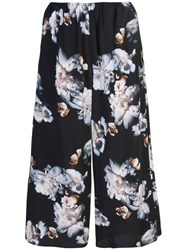 Vince Cropped Floral Trousers Black
