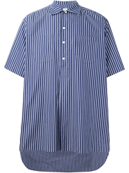E. Tautz 'Whitby' Striped Shirt Blue