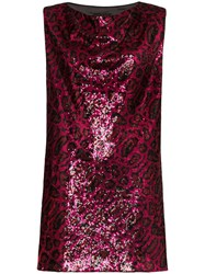 Rta Stevie Sequin Mini Dress Red