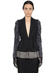 Maison Martin Margiela Wool Gabardine And Organza Jacket