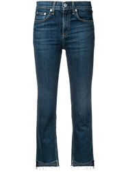 Rag And Bone Cropped Jeans Blue