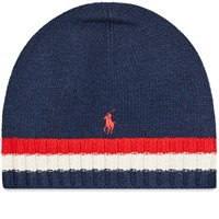 Polo Ralph Lauren Flag Stripe Beanie Blue