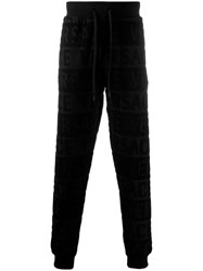 Versace All Over Logo Track Trousers Black