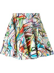 Jeremy Scott Scribbled Full Skirt