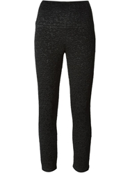 Bevza Wide Waistband Stretch Trousers Black