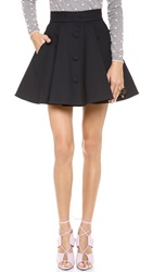 Red Valentino Flare Skirt Blue Denim