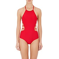 Chromat Women's Amelia One Piece Halter Swimsuit Red