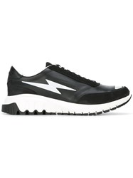 Neil Barrett Lightning Bolt Sneakers Black