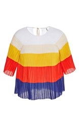 Marco De Vincenzo Pleated Knit Top White