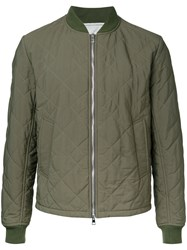 Kent And Curwen Quilted Bomber Jacket Green