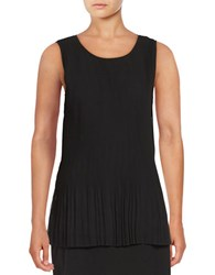 Lord And Taylor Emily Pleated Tank Top Black